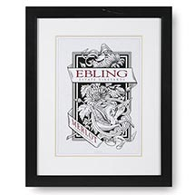 PERSONALIZED WINE LABEL FRAMED PRINT