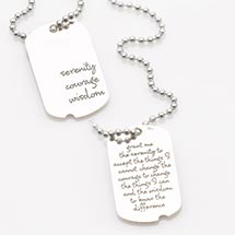SERENITY DOG TAG NECKLACE - STERLING SILVER