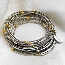 PIANO WIRE BRACELETS - WITH WORDS