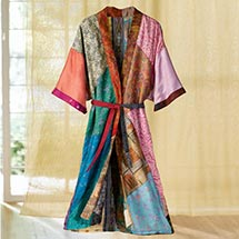 SILK SARIS ROBE