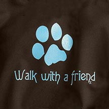 WALK WITH A FRIEND LADIES HOODED SWEATSHIRT