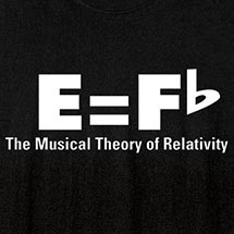 MUSIC THEORY OF RELATIVITY SHIRT