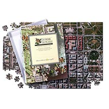 PERSONALIZED HOMETOWN JIGSAW PUZZLE - AERIAL