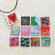 INTERCHANGEABLE MAGNETS NECKLACE SET