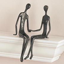 SEATED COUPLE SHELF SITTER