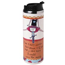 CURLY GIRL TRAVEL MUG - CAPE AND TIARA