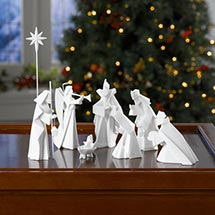 PORCELAIN ORIGAMI NATIVITY