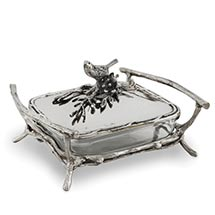 BIRD AND BRANCHES BAKER SERVER - SMALLER