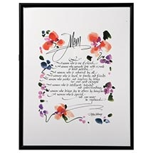 CALLIGRAPHY POEM PRINTS, FRAMED - MOTHER