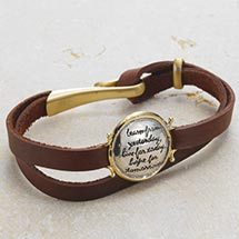 LEARN FROM YESTERDAY LEATHER BRACELET