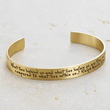 WHAT LIES WITHIN US CUFF BRACELET - BRASS