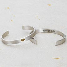 HEART OF GOLD CUFF BRACELET