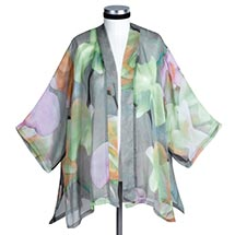 WATERCOLOR FLOWERS SILK JACKET