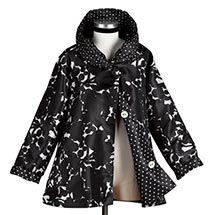 BLACK-AND-WHITE REVERSIBLE RAINCOAT