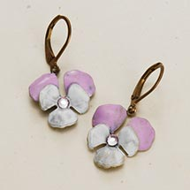 PANSIES EARRINGS