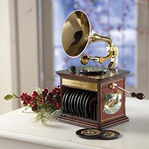 GRAMOPHONE CHRISTMAS MUSIC BOX