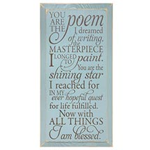 YOU ARE THE POEM PLAQUE