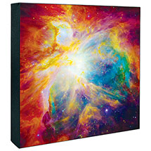 HUBBLE IMAGE CANVAS PRINT: SPITZER COLORFUL MASTERPIECE