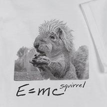 E=MC SQUIRREL SHIRTS