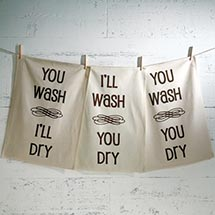 I'LL WASH, YOU DRY DISH TOWELS SET
