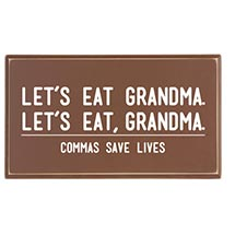COMMAS SAVE LIVES PLAQUE