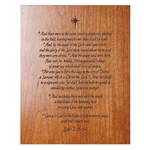 THE TRUE MEANING OF CHRISTMAS WOOD PLAQUE - ENGRAVED ONE LINE