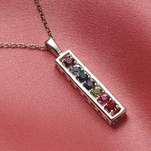 MOTHER'S BIRTHSTONE BAR NECKLACE - 1 STONE