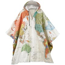 TYVEK® WORLD MAP PONCHO