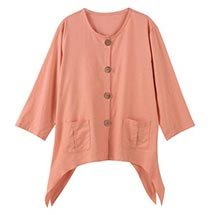 BUTTON-FRONT LINEN SHIRT