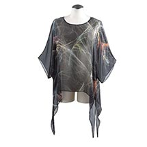 HANDPAINTED SILK ABSTRACT ART TOP
