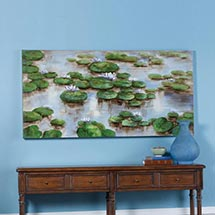 HANDPAINTED WATERLILIES CANVAS