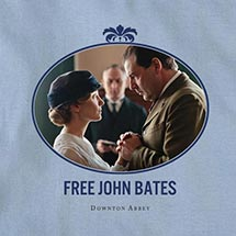 "DOWNTON ABBEY ""FREE BATES"" SHIRT - LAVENDER LADIES TEE"