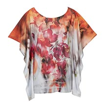WATERCOLOR POPPIES TOP