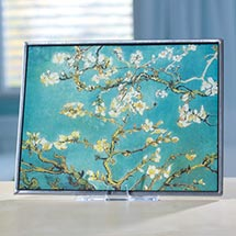 VAN GOGH ALMOND BLOSSOMS ART GLASS