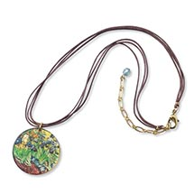 VAN GOGH IRISES NECKLACE (ROUND)