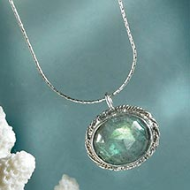 BRAIDED BEZEL NECKLACE