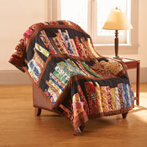 Library Books Quilted Throw Blanket 100 Cotton