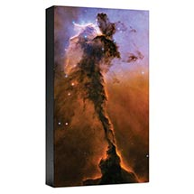 HUBBLE IMAGE CANVAS PRINT: THE EAGLE HAS RISEN: STELLAR SPIRE IN THE EAGLE NEBULA