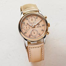 CHRONOGRAPH WITH METALLIC ROSE GOLD BAND