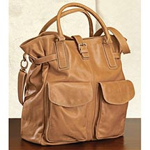 CARAMEL LEATHER DAY BAG