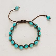 EARTH AND SKY WRAPPED BEADS BRACELET