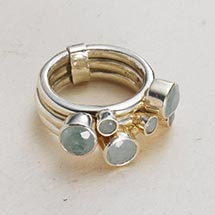 SIX-STONE STACKING RINGS