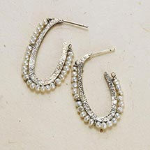 PEARL AND SILVER HOOPS