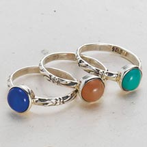 CARVED BAND STACKING RINGS