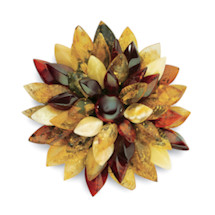 AMBER FLOWER BROOCH