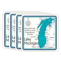 PERSONALIZED LAKE ART SET OF 4 COASTERS