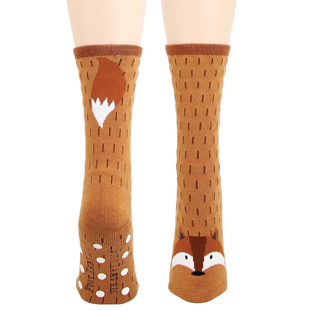 FOOT TRAFFIC USA, LLC Fox Mid Calf Cotton Blend Slipper Socks at Sears.com
