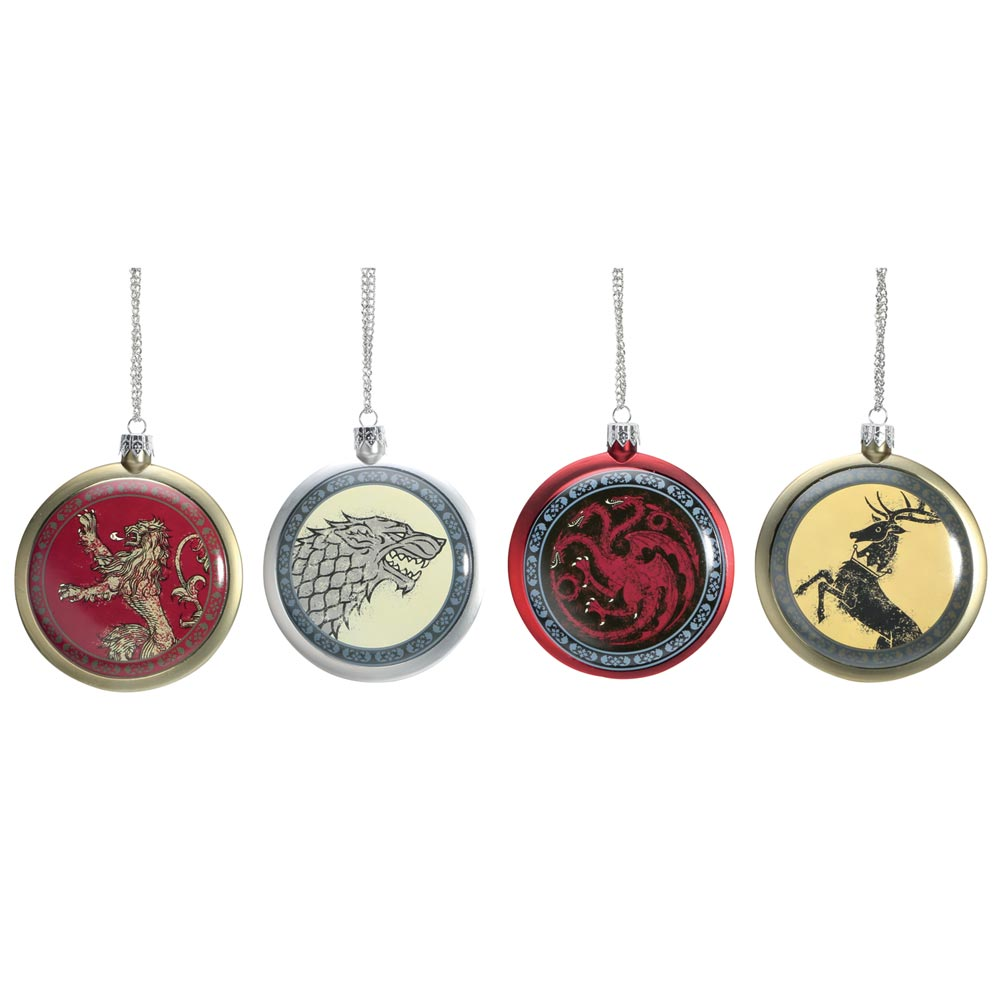 Game Of Thrones Holiday Decor - Christmas Ornament Set