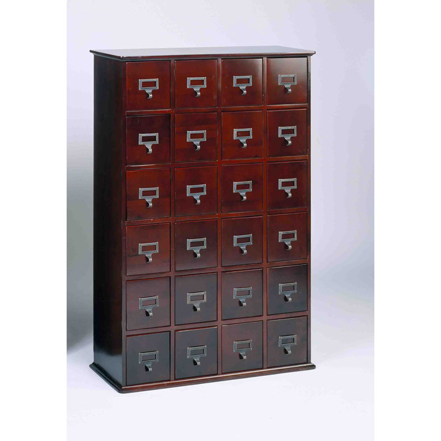 library 456 cd wood storage cabinet 24 drawer cherry. Black Bedroom Furniture Sets. Home Design Ideas