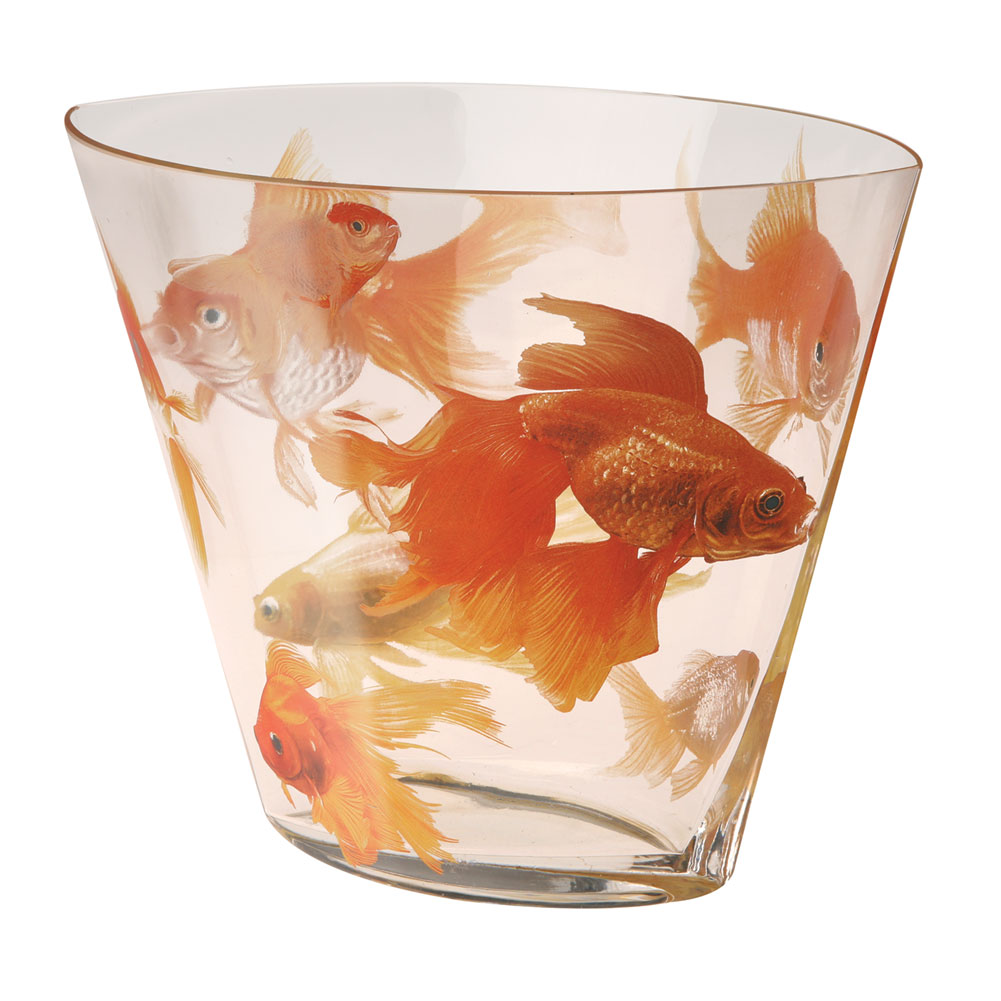 Lucky japanese koi blown glass flower vase prosperity for Koi fish vase